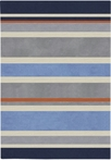 On Sale Gray Blue Stripes Rug - 4.10 x 7 Feet