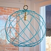 On Sale Greta Metal Sphere Pendant - Turquoise