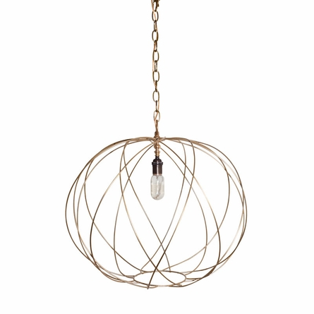 On Sale Greta Metal Sphere Pendant - White