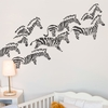Herd of Zebras in Charcoal Wall Decal