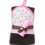 On Sale Hooded Towel and Washcloth Set - Hearts