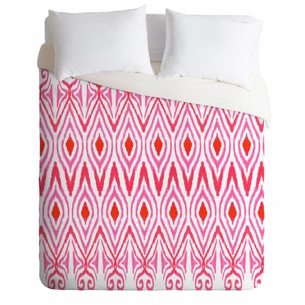 On Sale Ikat Watermelon Duvet Cover - Queen