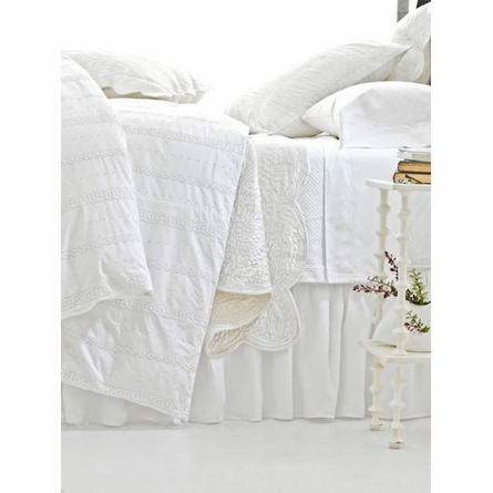 On Sale Juliet White Duvet Cover - Twin