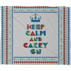 On Sale Keep Calm And Carry On Fleece Throw Blanket - Large