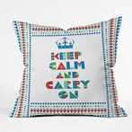 On Sale Keep Calm And Carry On Throw Pillow - Extra Large