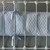 On Sale Linen Quilted Crib Bumper - Silvermist Blue
