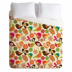 On Sale Little Birds Duvet Cover - Queen