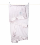 On Sale Little Giraffe Chenille Satin Receiving Blanket - Pink