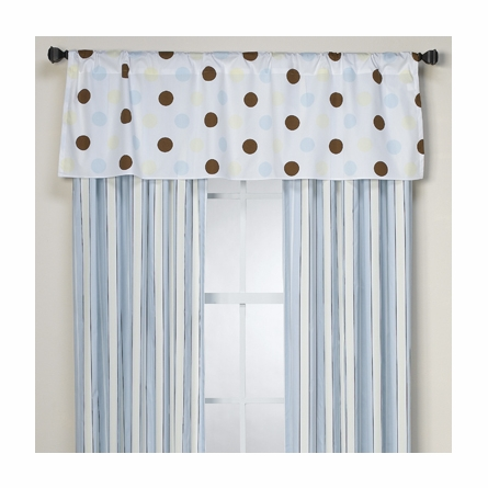 On Sale Little House Window Valance - Neapolitan Chocolate Blue