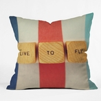 On Sale Live To Fly Throw Pillow - 20 Inches