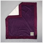 On Sale Luxe Baby Blanket With Cream Luxe Back - Plum Luxe/Plum Satin - Security - 14 x 17 Inches