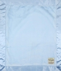 On Sale Luxe Baby Blanket with Satin Back - Blue
