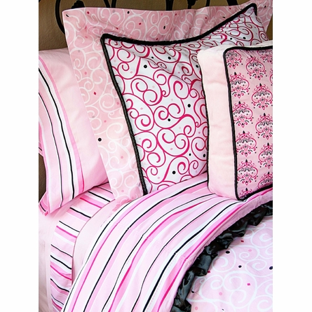 On Sale Luxe Pink Duvet Cover - Full/Queen