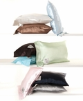 On Sale Luxe Satin Nap Pillow - Chocolate
