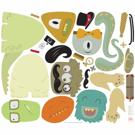On Sale Makin' Monsters Fabric Wall Decals