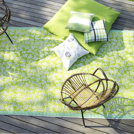 On Sale Meadow Leaf Lime Rug