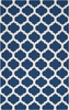 On Sale Mediterranean Blue and White Trellis Frontier Rug - 2 x 3 Feet