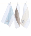 On Sale Mess with This Luxe Burp Cloths in Blue Cream and Flax