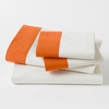 On Sale Modern Border Sheet Set in Tangerine - Queen
