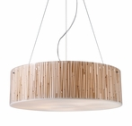 On Sale Modern Organics Five Light Pendant with Bamboo Stem Material in Polished Chrome
