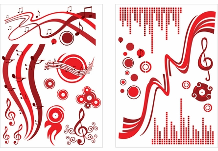 On Sale Music Red Wall Decals