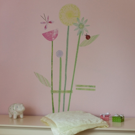 On Sale My Garden Inspired Bouquet Fabric Wall Sticker