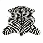 On Sale Narrow Striped Zebra Pelt Rug - 39 x 55 Inches