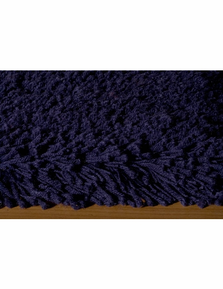 On Sale Navy Blue Comfort Shag Rug - 8 Foot Round