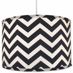 On Sale Navy Chevron Pendant with White Cord