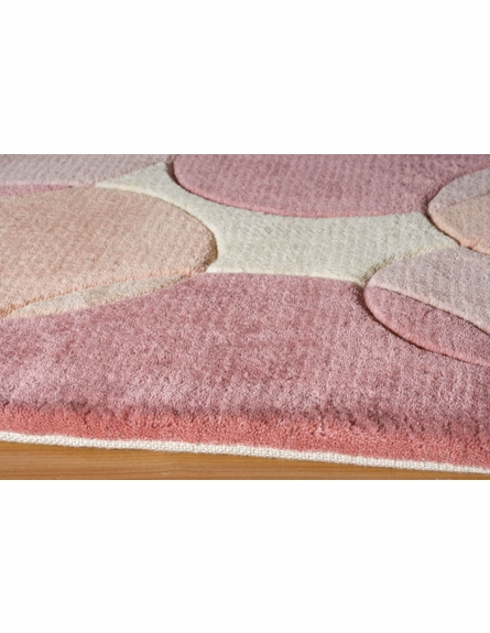 On Sale New Wave Bubbles Rug in Pink - 2 x 3 Feet