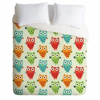 On Sale Owl Fun Duvet Cover - Twin