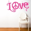 Peace & Love in Pink Wall Decal