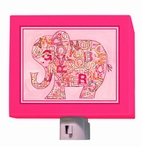 On Sale Pink Alphabet Elephant Nightlight