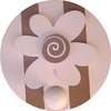 On Sale Pink & Brown Flower Wall Peg - Set of Two