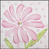 On Sale Pink Daisy Imagination Square Hand Painted Canvas Art