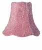 On Sale Pink Glass Bead Chandelier Shade