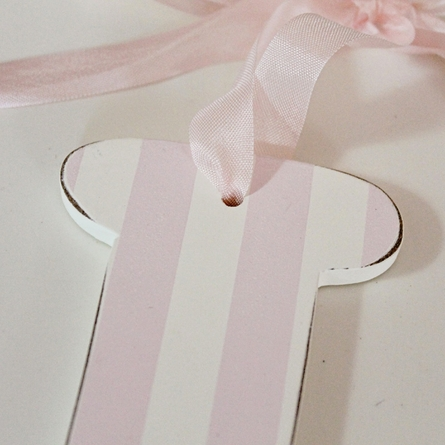 On Sale Pink Striped Wooden Wall Letter - Letter L