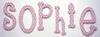 On Sale Polka Dot Letters in Pink - U
