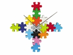 On Sale Puzzle Wall Clock in Multi