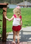 On Sale Raspberry Bloomer Shorts - Small