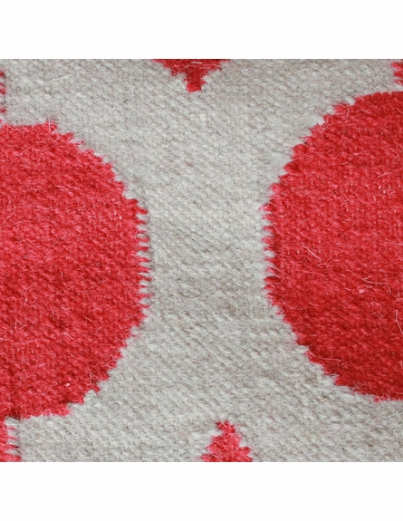 On Sale Red and Oatmeal Trellis Frontier Rug - 2 x 3 Feet