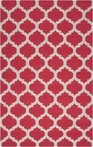 On Sale Red and Oatmeal Trellis Frontier Rug - 3.6 x 5.6 Feet