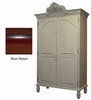 On Sale Rose Armoire in Rum Raisin Finish
