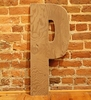 On Sale Rustic Brown XXL Wall Letters - P
