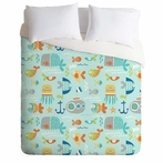 On Sale Sealife Duvet Cover - Queen