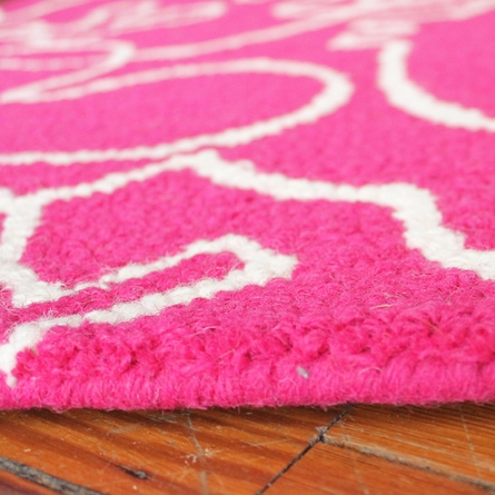 On Sale Seasons Rug in White and Pink - 5 x 8 Feet