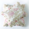 On Sale Sofia Boudoir Pillow - Pink with Frayed Trime