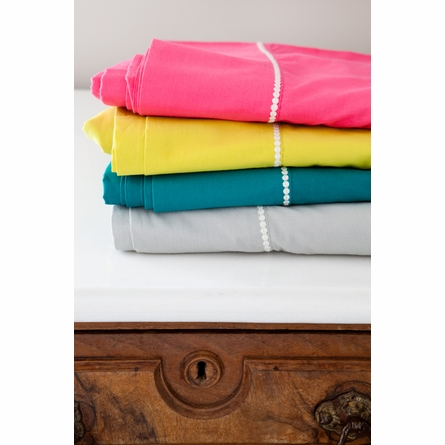 On Sale Solid Twin Flat Sheet in Pink