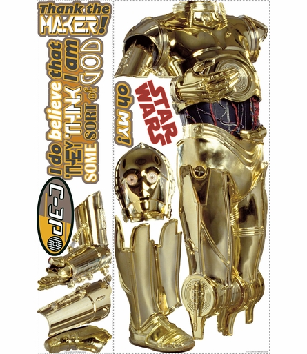 Star Wars C-3PO Giant Peel & Stick Applique