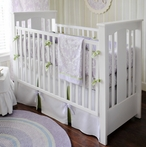 On Sale Sweet Violet Bumper-Free Crib Bedding Set
